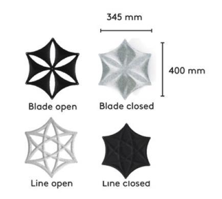 Airflake panel design options