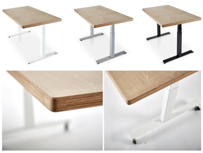Sisu Birch Plywood Standing Desk from Flomotion