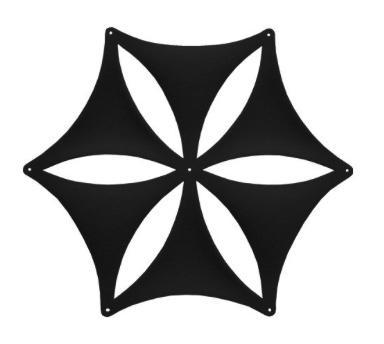 Airflake blade open panel design