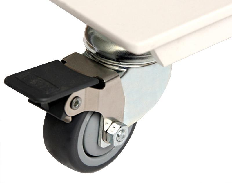 Desk castors allow easy repositioning