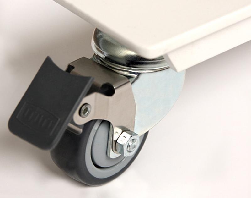 Desk castors for added mobility