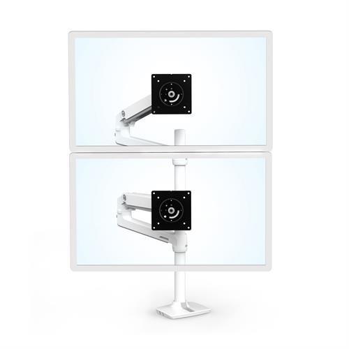 Ergotron LX Dual Stacking Monitor Arm | Tall Pole