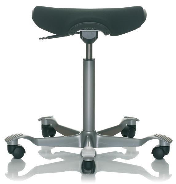 Ergonomic stool with cushion seat