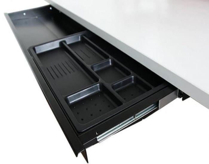 wide under desk drawer for sit-stand desks