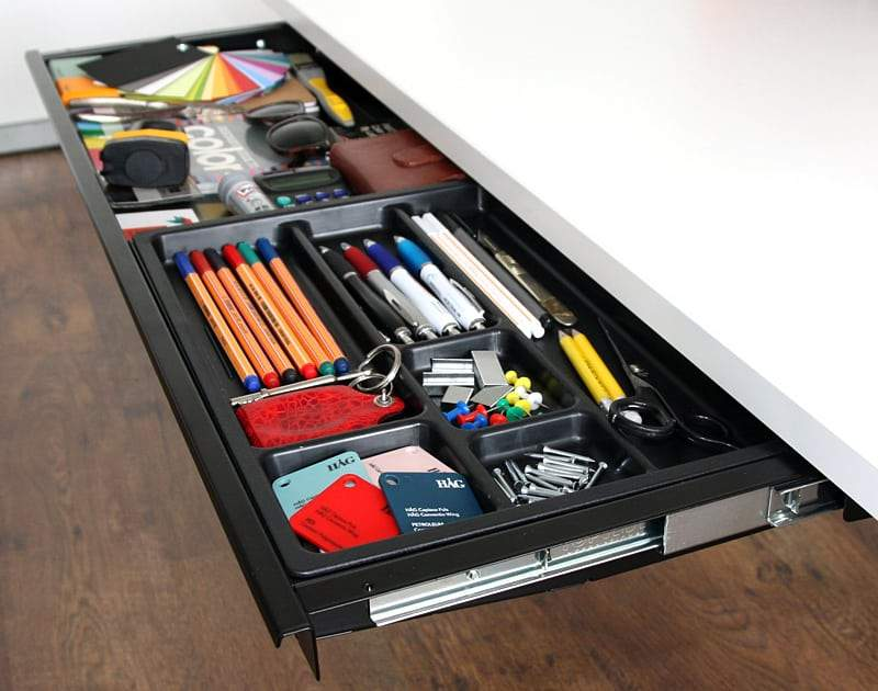 under desk organiser drawer and pencil tray