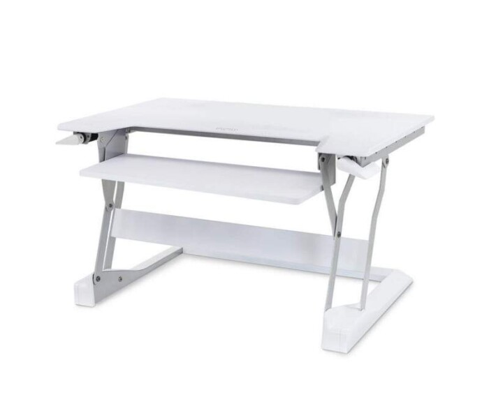 White WorkFit-t Standing Desk Converter from Ergotron