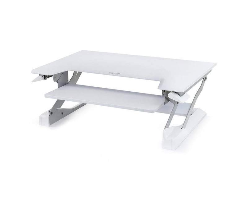 White WorkFit-t Standing Desk Riser from Ergotron