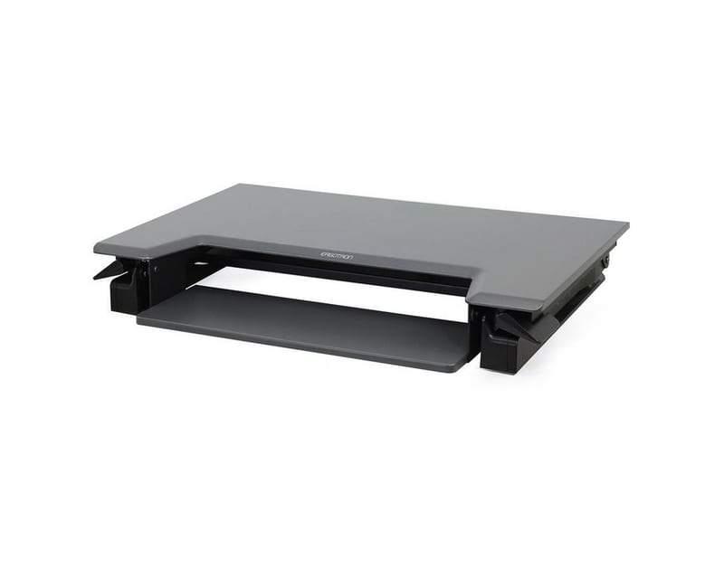 Black WorkFit-t Standing Desk Riser from Ergotron