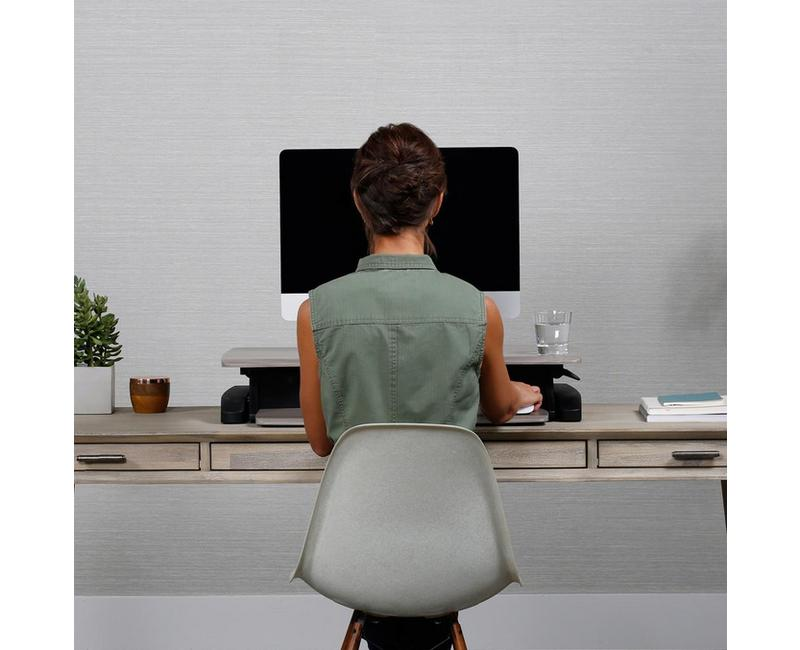 WorkFit-Z Mini Desk Converter sitting position