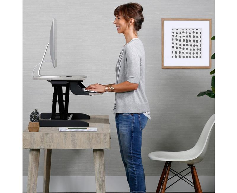 WorkFit-Z Mini Desk Riser with full height extension